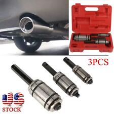 Set of 3 Car Vehicle Tail Pipe Expander Kit Exhaust Muffler Spreader Tools+ Case
