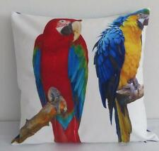 Colourful Vibrant Macaw Parrots Suede Look Cushion Cover 45cm