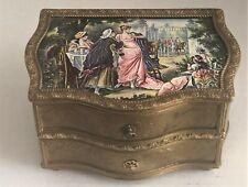 Rare Antique Austrian Bronze Enamelled Music Box