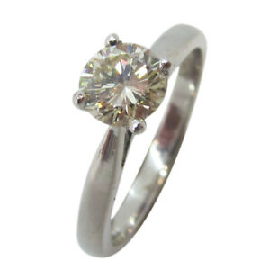 18ct White Gold 0.75ct Round Solitaire Diamond Single Stone Engagement Ring