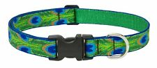 "Lupine 1"" wide TAIL FEATHERS Adjustable Nylon Dog Collar size 16-28"""