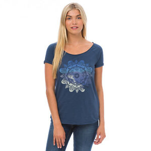 Animal NEW Oceanica Deluxe navy graphic print t shirt top BNWT £25 sizes 8-16