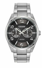 Citizen Eco-Drive Black Dial Stainless Steel Men's Watch AO9020-84E