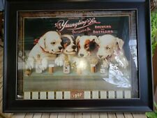 Vintage Yuengling Beer Puppies Framed Poster