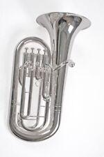 Bb Euphonium  silver pump valves silver plated
