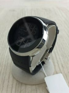 GUCCI Digital Watch Rubber Black Limited