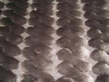 More details for super luxury faux fur fabric material - dark brown cable