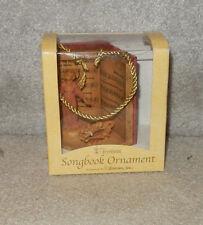 FONTANINI SONGBOOK CHRISTMAS ORNAMENT CAROLS ANGEL 2004