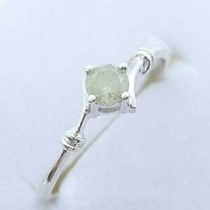 $999 14K White gold plate/925 Genuine .55ctw H-SI Diamond Engagement Ring SZ 6.5