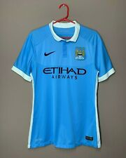 Manchester City 2015-2016 Player Issue Home Football Shirt Soccer Jersey size M