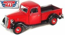 Ford Pickup 1937 - Red, Classic Metal Model Car, Motormax 1/24