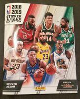 Album Stickers Panini Basketball NBA 2018-19 vide à complété avec 6 Autocollants