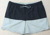 "Goodfellow Swimming Trunks Shorts Blue XXL 42"" X 6"" Nylon Polyester Man's Men's"