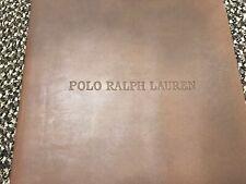 Polo Ralph Lauren Leather & Plaid Binders (Unique/Vintage Item)