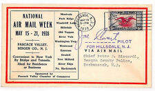 VV430 1938 USA Hackensack New Jersey Airmail Week Cover Samwells-Covers