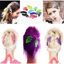 10 PCs Cute Creepy Plastic Skeleton Hand Hair Clip Hairpin for Women Girls AZ