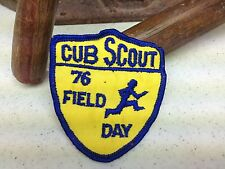 VINTAGE BLUE  CUB SCOUT 76 FIELD DAY PATCH