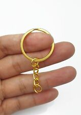 Pack of 100 Metal Split Keyring Keychain Findings Wholesale Lot Color Gold