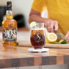 Initial Engraved Rum Tumbler, Personalised Glass