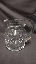 "Attractive Edinburgh Crystal 6.5"" Glass Jug / Pitcher"