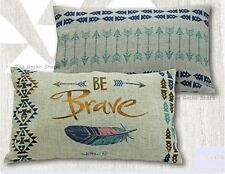 CUSHION Gypsy Spirit BE BRAVE Dream Catcher Feather Sofa Bed Lounge Lisa Pollock