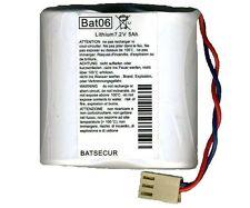 BATSECUR BATTERIA BAT06 LITIO COMPATIBILE BATLI06 LOGISTY DAITEM 7,2V 5AH