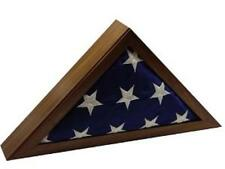 Walnut Military Buriel or Interment Ceremony Flag Display Case
