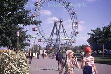 Vienna Austria Ferris Wheel Leopoldstadt Prater Park vtg 1970 Kodak 35mm Slide