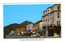 Canon City CO Street View Vintage Store Fronts Old Cars Rex Theatre Postcard