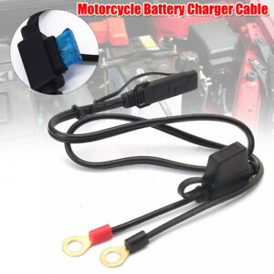 12V 10A Motorcycle Battery Cable Charger Terminal Ring Connector Fuse Charging