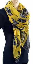 YELLOW LEMON HANDBAG SPRING LIGHT SCARF SHAWL WRAP SARONG HIJAB CHRISTMAS GIFT