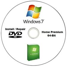 Windows 7 Home Premium 64-Bit Installation / Repair DVD Disc High Quality CD