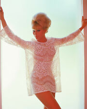 ELKE SOMMER BUSTY COLOR 8X10 PHOTO IN SEE-THRU TOP