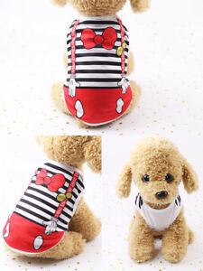 XS S M L XL Boy Dog T Shirt Girl Dog Clothes Pet Puppy Soft Vest Apparel Costume