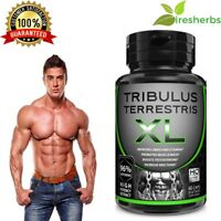 TRIBULUS TERRESTRIS EXTRACT 96% SAPONINS GROW MUSCLE TESTOSTERONE BOOSTER 60CAPS