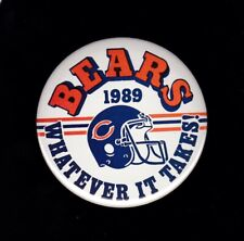 Chicago Bears 1989 Whatever It Takes pinback button