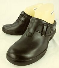 Merrell Womens Clogs US 6 Black Leather Slip-on Shoes  3958