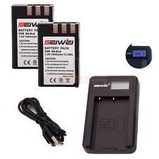 2X 1800mAh Replacement Li-ion EN-EL9/EL9A Battery for Nikon D3000 w/ USB Charger