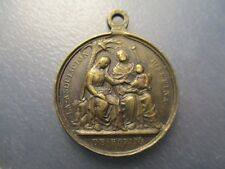 MEDALLA RELIGIOSA 1871 PAPA PIO IX / SAGRADA FAMILIA ASOCIACION JOSEFINA ESPAÑA