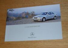 Mercedes C Class Saloon Prices 2003 C32 AMG C180 C200 C220 C270 CDI Avantgarde