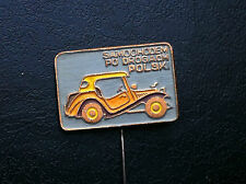 OLD VINTAGE- PIN - BADGE - SAMOCHODEM PO DROGACH - car club - Poland