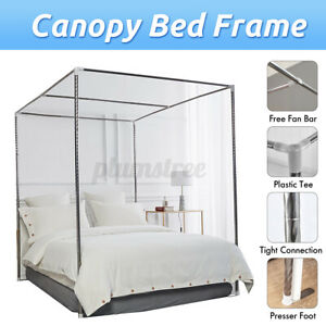 16mm Stainless Steel Bed Mosquito Canopy Nets Braket Frame Post Easy Install