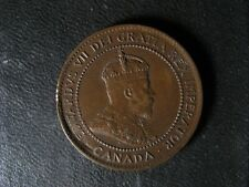 1 cent 1904 Canada one penny copper coin large King Edward VII c ¢ EF-45 Bent