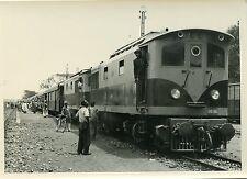 Photo tirage vintage TRAIN locomotives en AFrique