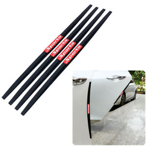 4Pcs Car PVC Bumper Protector Trim Strip Trunk Sill Guard Scratch Pad Cover 40CM