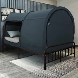 Canopy Bed Dream Privacy Space Twin Size Sleeping Tents Portable Charcoal