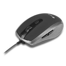 NGS Tick Wired Optical Gaming Mouse, 6 Buttons, Scroll Wheel in Silver