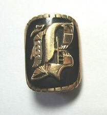 "10K Yellow Gold and Onyx Initial B Pin 4.3 grams 3/4"""