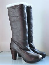 Chie Mihara KILLAH - Stiefel Lammleder/Calf Skin Boots, Dunkelbraun, Gr. 41 NEU