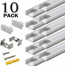 Starlandled 10-Pack Aluminum Channel for LED Strip Lights Installation Easy DYI